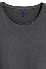 Cotton jersey T-shirt - Dark grey - Men | H&M 3