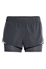 Shorts da running - Grigio scuro - DONNA | H&M IT 2