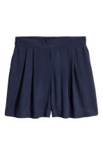 Wide shorts - Dark blue - Ladies | H&M CN 2