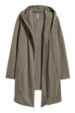 Sweatshirt cardigan - Khaki green - Ladies | H&M CN 2