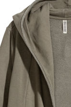 Sweatshirt cardigan - Khaki green - Ladies | H&M CN 3