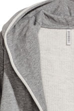 Sweatshirt cardigan - Grey marl - Ladies | H&M 3
