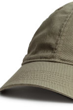 Cotton cap - Khaki green -  | H&M 2