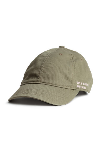 Cotton cap - Khaki green - Ladies | H&M CN 1