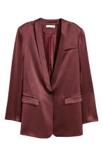 Tuxedo jacket - Burgundy - Ladies | H&M GB 2