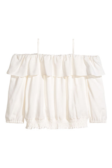 Cold shoulder blouse - White - Kids | H&M CN 1