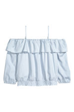 Cold shoulder blouse - Light blue - Kids | H&M CN 1