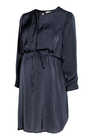 MAMA Satin tunic - Dark blue - Ladies | H&M 1