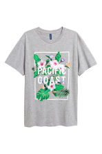 Printed T-shirt - Grey marl - Men | H&M 2