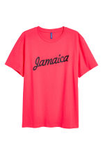 Printed T-shirt - Neon pink - Men | H&M CN 2