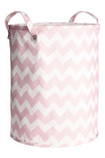 Storage basket - Light pink/Zigzag - Home All | H&M CN 1