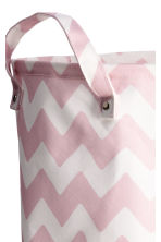 Storage basket - Light pink/Zigzag - Home All | H&M CN 2