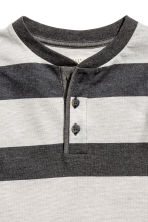 Henley shirt - Dark grey/Striped -  | H&M CN 3