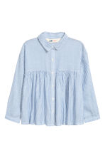 Long-sleeved blouse - Blue/White/Striped - Kids | H&M 1