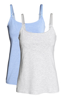 MAMA 2-pack nursing vest tops