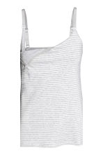 MAMA 2-pack nursing vest tops - Light grey/Striped - Ladies | H&M CN 4