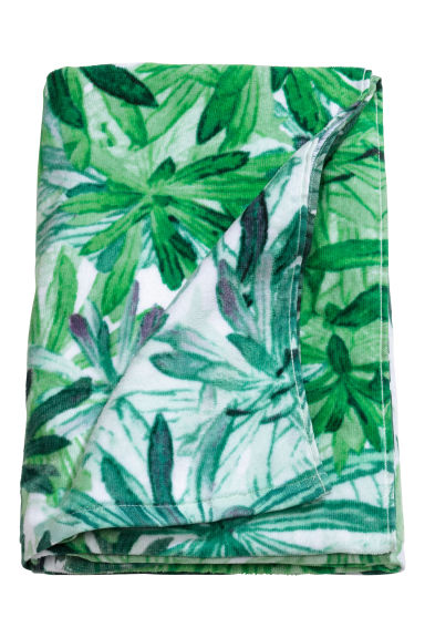 Printed bath towel - White/Leaves - Home All | H&M CA 1