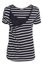 MAMA Nursing top - Dark blue/Striped - Ladies | H&M CN 3