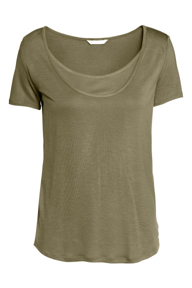 MAMA Nursing top - Khaki green - Ladies | H&M 1