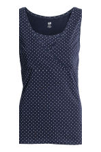 MAMA 2-pack nursing tops - Dark blue/Spotted - Ladies | H&M 4