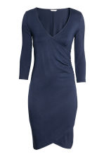 MAMA Jersey nursing dress - Dark blue - Ladies | H&M CA 2