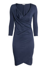 MAMA Jersey nursing dress - Dark blue - Ladies | H&M CA 3