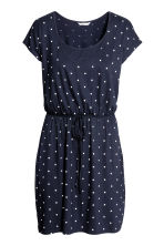 MAMA Nursing dress - Dark blue/Spotted - Ladies | H&M 1