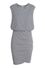 MAMA Nursing dress - Dark blue/Striped - Ladies | H&M CA 2