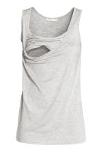 MAMA Nursing top - Light grey marl -  | H&M 3