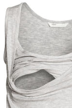 MAMA Nursing top - Light grey marl -  | H&M 4