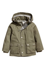 Cotton parka - Khaki green -  | H&M CN 2