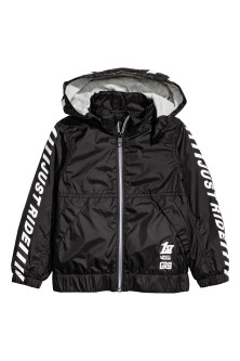 Jersey-lined windproof jacket