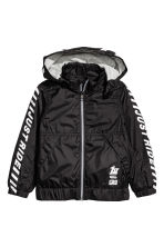 Jersey-lined windproof jacket - Black -  | H&M CN 2