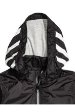 Jersey-lined windproof jacket - Black - Kids | H&M 3