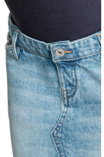 MAMA Gonna corta di jeans - Blu denim chiaro - DONNA | H&M IT 4