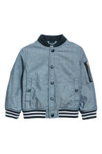 Chambray baseball jacket - Blue/Chambray - Kids | H&M 2