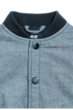 Chambray baseball jacket - Blue/Chambray -  | H&M 3