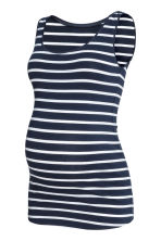 MAMA Jersey vest top - Dark blue/Striped -  | H&M IE 2