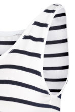 MAMA Jersey vest top - White/Striped - Ladies | H&M CN 3