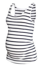 MAMA Jersey vest top - White/Striped - Ladies | H&M CN 2