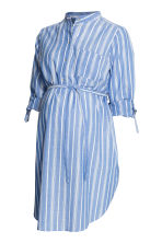 MAMA Cotton tunic - Blue/Striped - Ladies | H&M 1