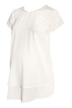 MAMA Crêpe blouse - Natural white - Ladies | H&M CN 2