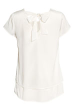MAMA Crêpe blouse - Natural white - Ladies | H&M CN 3