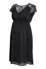 MAMA V-neck dress - Black - Ladies | H&M 2