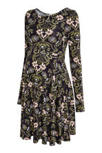 MAMA Jersey dress - Dark blue/Floral -  | H&M CA 2