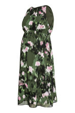 MAMA Sleeveless dress - Khaki green/Patterned - Ladies | H&M CN 2