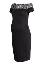 MAMA Off-the-shoulder dress - Black -  | H&M 2
