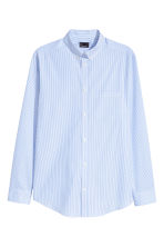 Premium cotton shirt - White/Blue striped - Men | H&M CN 2