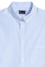 Premium cotton shirt - White/Blue striped - Men | H&M CN 3