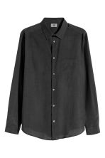 Premium cotton-blend shirt - Black - Men | H&M 2